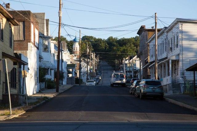 street with church